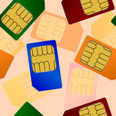 Sim card. Seamless wallpaper. — Stock Photo