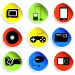 Icon set of electronic gadgets — Stock Photo #7802431
