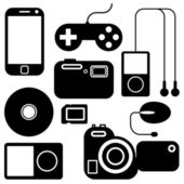 Icon set of electronic gadgets — Stock Photo