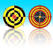 Targets for practical pistol shooting — Stock Photo