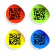 Stock Photo: Set of labels with qr codes.