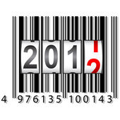 2012 New Year counter, barcode, vector. — Stock Photo