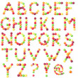 Candies alphabet - Stock Photo
