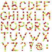 Candies alphabet — Stock Photo