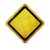 Grunge lege verkeersbord met uitknippad — Stockfoto
