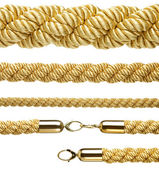 "Set of ""vip entrance"" gold ropes — Stock Photo"