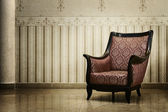 Vintage empty chair in luxury interior — Stock Photo