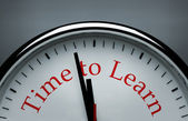 Tempo per imparare immagine concettuale — Foto Stock