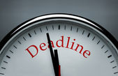 Deadline conceptual image — Stock Photo