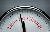 Zeit für veränderung-uhr — Stockfoto