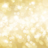 Gold defocused lights background — Stock Photo