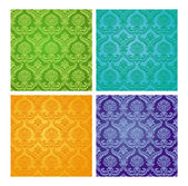 Patterns on the wallpaper — Stock Vector