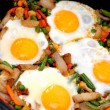 Fried eggs — Foto Stock