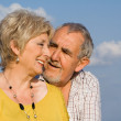 Loving senior couple happy in the golden years — Stock Photo