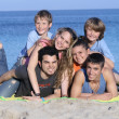 Extended family kids on holiday or vacation — Stock Photo