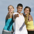 Teens pointing — Stock Photo #6950186