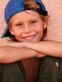 Happy little scruffy kid, boy or child — Stock Photo