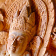 Stock Photo: Thai wood carving patterns ( Teak wood )