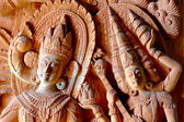 Thai wood carving patterns — Stock Photo
