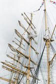 Masts and Sails — 图库照片