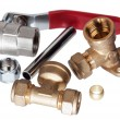Plumbing fixtures and piping parts — Stock Photo #7954447