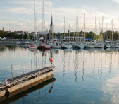Admiralty harbour in Tallinn. The Celebration Of The Days Of The Sea. — Stock Photo