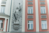 Facade of the ancient house in Riga — Stock Photo