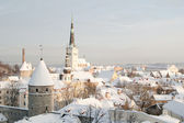 View of an old city in Tallinn. Estonia — Stock Photo