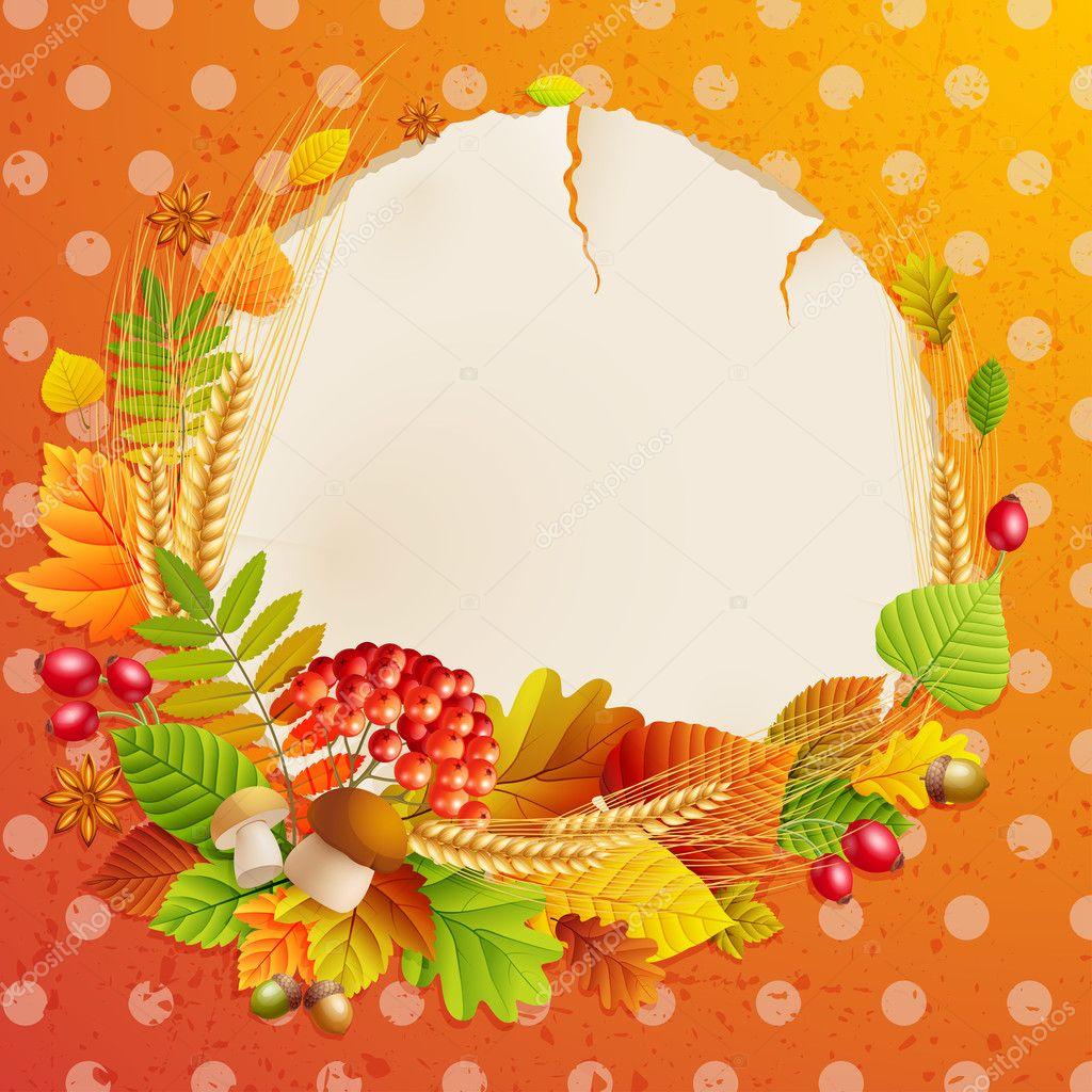 秋季复古 - 图库插图