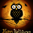 Halloween illustration — Vector de stock #7240155