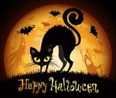 Illustrazione di Halloween — Vettoriale Stock