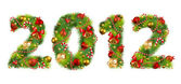 Christmas tree font — Stock Vector