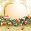 Christmas vintage garland — Stock Vector #7720752