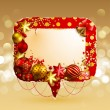 Christmas vintage bubble — Stock Vector