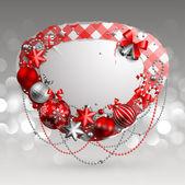 Christmas vintage bubble — Stock Vector