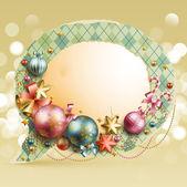 クリスマス ビンテージ バブル — ストックベクタ