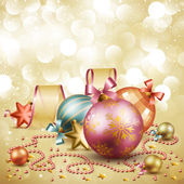 Christmas vintage card — Stock Vector