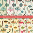 Royalty-Free Stock Vektorgrafik: Christmas seamless retro patterns