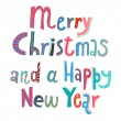 Royalty-Free Stock Векторное изображение: Merry Christmas and a Happy New Year lettering