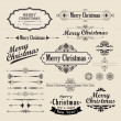 Stock Vector: Christmas vintage design