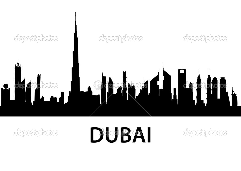Detailed illustration of the city of Dubai, UAE — Stock Vector #6780204