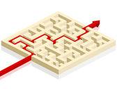 Maze with arrow — Wektor stockowy