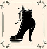 Vintage ladies' shoe — Stock Vector