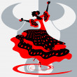 Stock Vector: Spanish dancer