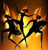 Płonące taniec — Wektor stockowy