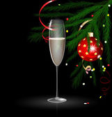 Vánoční šampaňské — Stock vektor