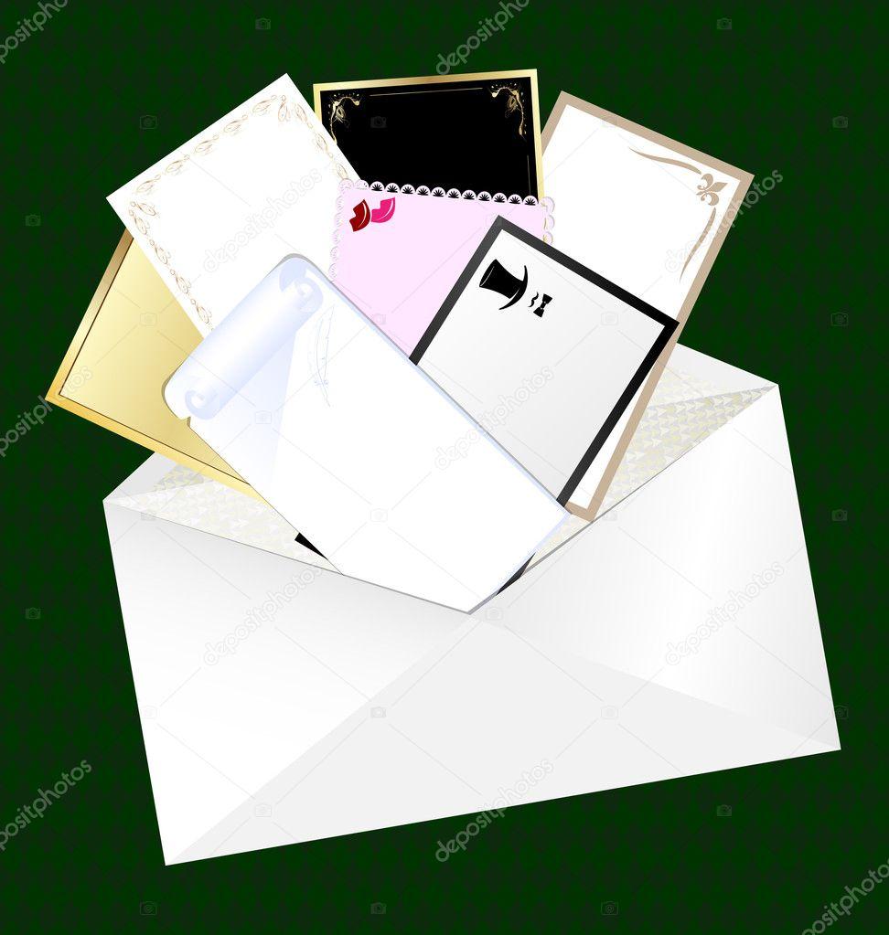 信封和空白卡片