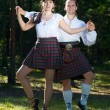 Man and woman in scottish costume — Stock Photo #6896834