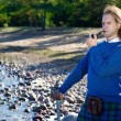 Man in scottish costume with pipe — Stock Photo #6908768