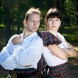 Man and woman in scottish costume — Stock Photo #6937091
